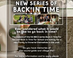 Back in Time - Casting Flyer